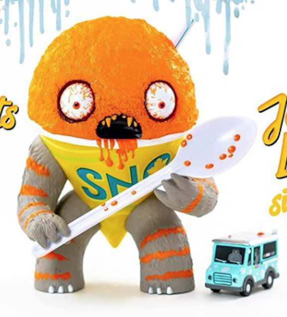 The Abominable Snow Cone Orange exclusive by Jason Limon Limited 1 75 SHIPS USA