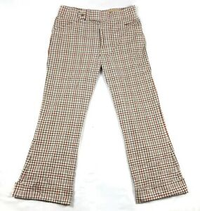 Vintage-70s-Jaymar-Plaid-Bell-Bottoms-Slacks-36-x-29-No-Quit-Knit-Golf-Pants