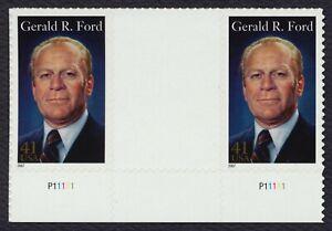 #4199 41c Gerald R Ford, Vertical Gutter Par [4 ], Nuevo Cualquier 5=
