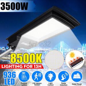 3500W-936-LED-Solar-Street-Light-Motion-Sensor-Garden-Wall-Lamp-Remote-350000LM