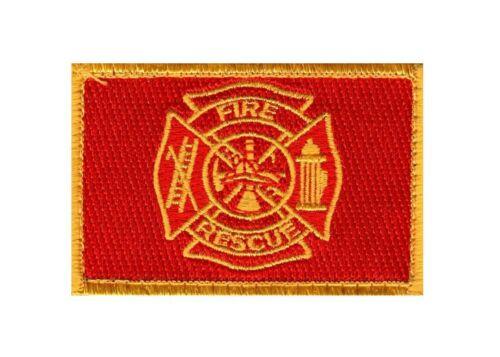 FIRERFIGHTER FIRE RESCUE MORALE HOOK PATCH 3.0 x 2.0 Patch