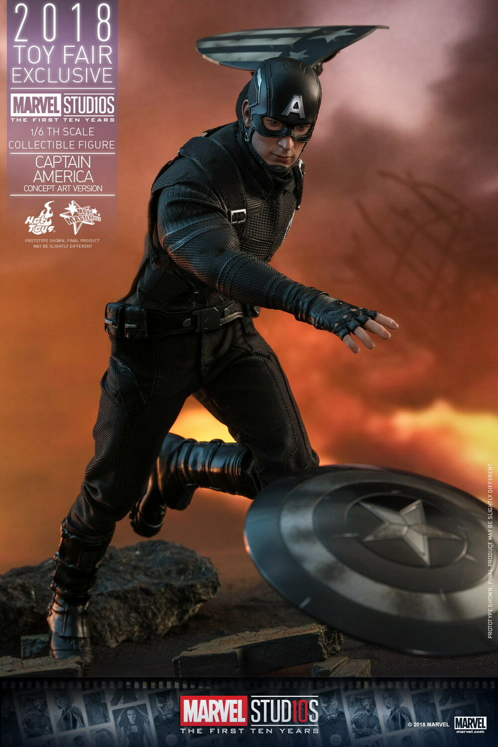 CAPTAIN AMERICA - Concept Art 1 6th Scale Action Figure MMS488 (Hot Toys)  NEW