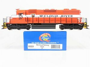 HO-Scale-Athearn-93531-McCloud-Railway-SD38-Diesel-Locomotive-37-w-Custom-DCC