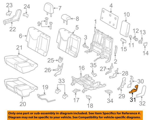 toyota oem 15 17 prius v rear seat hinge cover 7162947010c0 ebay Prius Drawing toyota oem 12 17 prius v rear seat hinge cover 7162947010c0