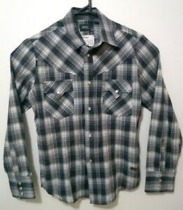 G-Star-Raw-Mens-Shirt-Size-S-GS-3301-Pearl-Clamp-Long-Sleeve-Button-Up-Check
