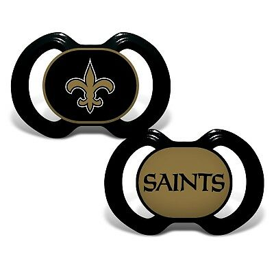 Fan Apparel & Souvenirs Considerate New Orleans Saints Pacifiers 2 Pack Set Infant Baby Fanatic Bpa Free Nwt Outstanding Features