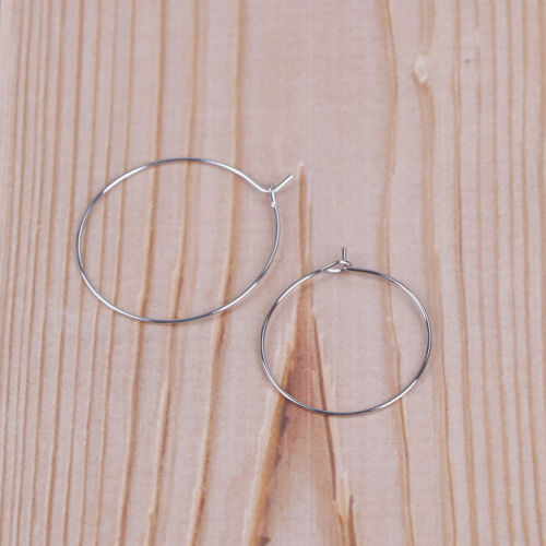 100 silver plated wine glass charm rings//earring hoops wedding hen party X