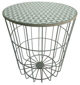 Table Dappoint Lune Métal Panier Basse Design Bois Korbtisch Ebay