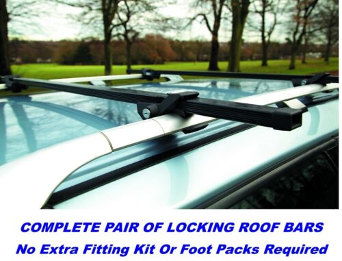 001 Pair Of Locking Roof Bars VW SHARAN With Factory Fit Rails