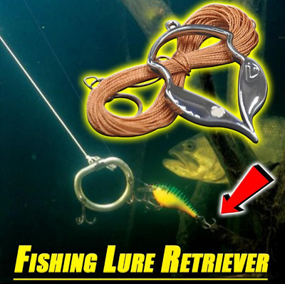Gold Fishing Bait Retriever FEIlei Stainless Steel Hard Bait Retriever Fishing Bait Rescue Stuck Fish Lure Seeker