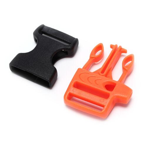 5pcs Survival Whistle Schnalle Plastikschnallen für Paracord Armband Rucksa w*e