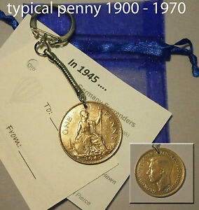1948 Coin penny keyring 68th birthday Christmas gift present 68 years old y7mh - Cardiff, United Kingdom - 1948 Coin penny keyring 68th birthday Christmas gift present 68 years old y7mh - Cardiff, United Kingdom