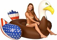 Bald Eagle Float Inflatable Water Swimming Pool Floating Raft Beach Toy 78 Inch