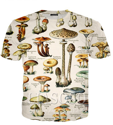 3D Print Anime Mushroom Women Men Casual T-Shirt Short Sleeve Oversized Tee Tops