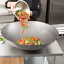 30-034-Round-Hand-Hammered-Silver-Carbon-Steel-Cantonese-Wok-Saute-Asian-Stir-Fry thumbnail 2