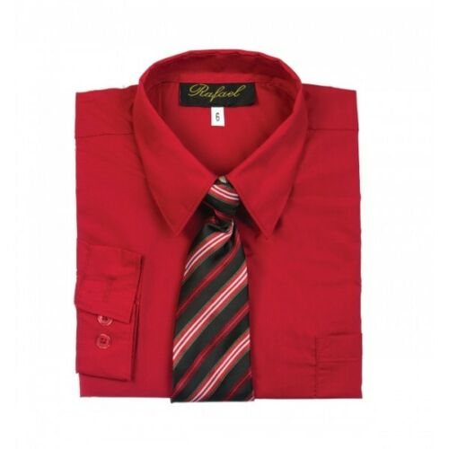 Boy/'s Dress Shirt /& Tie Set Long Sleeve-Button Down choose your color /& Size