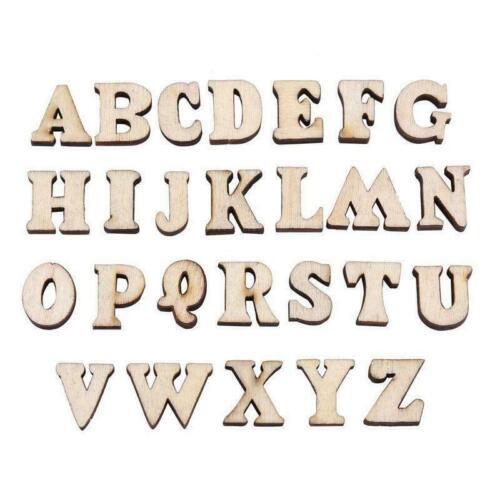 100pcs Wooden Letters Alphabet Wooden Crafts DIY Decor New C2D6