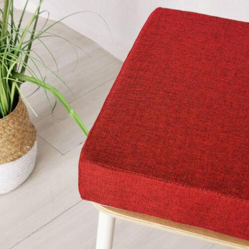 Linen Foam Cushion Office Chair Seat Sofa Pads Garden Dining Floor Thick Home