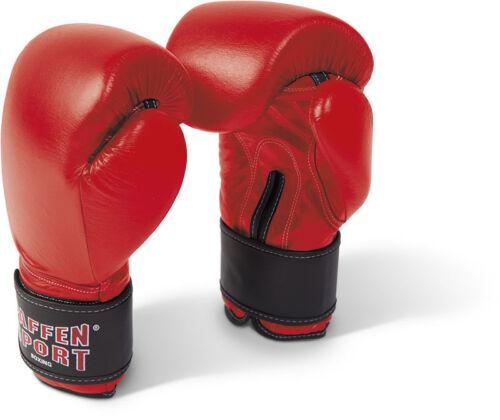 100/% Pelle NUOVO Training. in rosso 10-16oz Paffen SPORT Kibo Fight allenamento