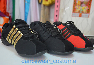 New Adult Women's Canvas Modern Jazz Hip Hop Dance Sneakers Shoes US 5-9 3Colors