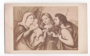 Vintage-CDV-Religious-Painting-by-Palma-il-Vecchio-Adoration-of-the-shepards
