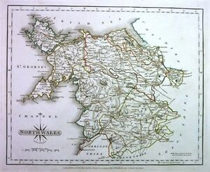 Antique-map-North-Wales