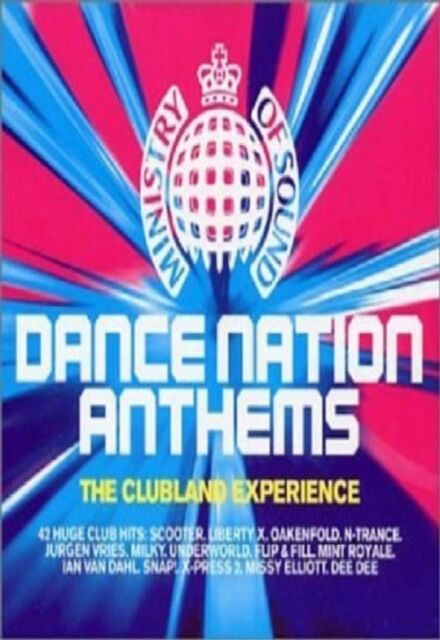 MINISTRY OF SOUND CLUBLAND - DANCE NATION ANTHEMS HITS Music Audio CD Original