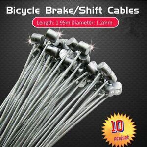 Desviador-de-freno-de-bicicleta-de-acero-10Pcs-Palanca-De-Cambios-Cambio-Cable-Alambre-Interior