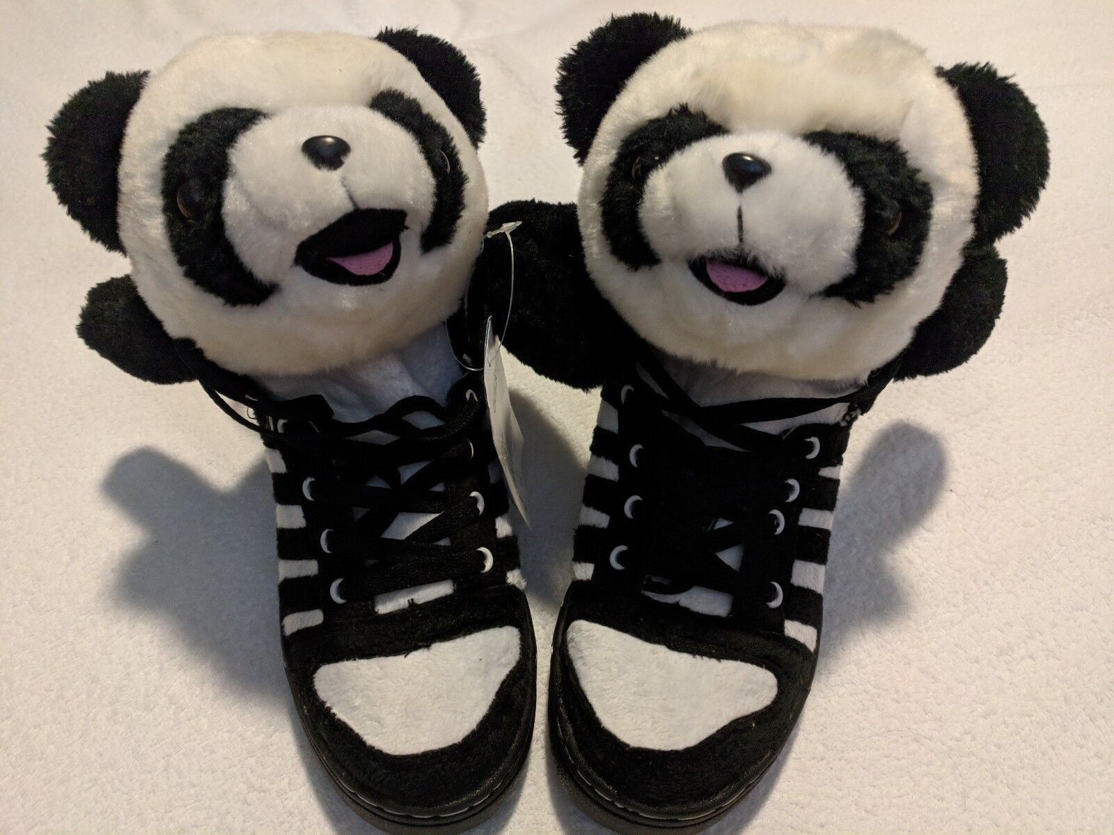 Panda bear high top shoes size 6.5