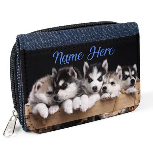 Borsetta Donna Personalizzato Husky cucciolo Denim Coin il suo Regalo Ragazze birthdaysh 130