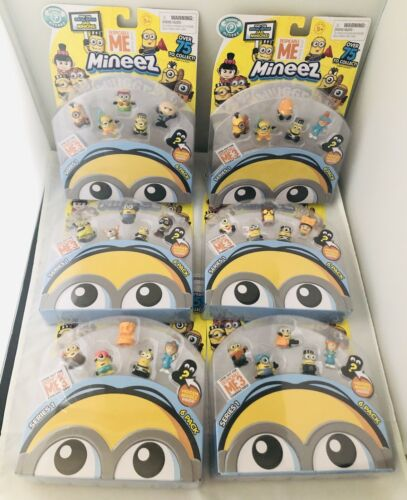 Lot of 6 Packs All Different NIB Despicable ME Mineez Minions 6 pack Series 1