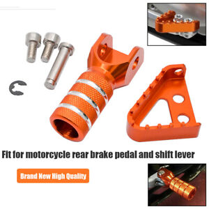 Gear-Shifter-Shift-Lever-Rear-Brake-Pedal-Step-Plate-Tip-For-KTM-RC-125-200-390