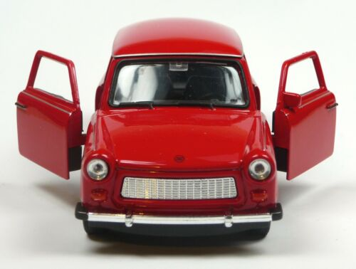 50 Jahre Trabant 601 Modellauto 11cm WELLY Sonderfarbe rot Jubiläums-Edition