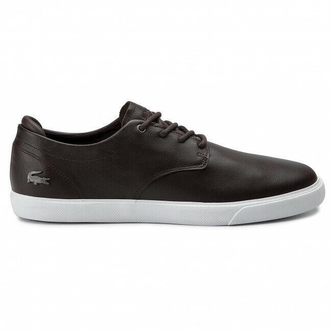 Lacoste esparre BL 1 CMA [Size 39,5/40,5/46/46,5] Mens Leather Trainer Brown