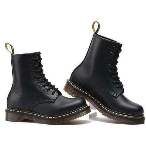 Dr Doc Martens 8 Eye Classic Airwair 1460 Leather Ankle Womens Mens Boots