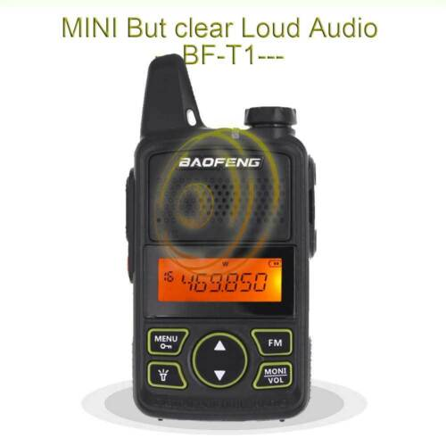 Baofeng Mini Two way Radio BF-T1 UHF VOX 20CH FM Transceiver Walkie Talkie
