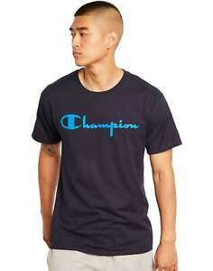 Champion Men's Classic Jersey Tee Script Logo Athletics T-Shirt Ring spun Cotton