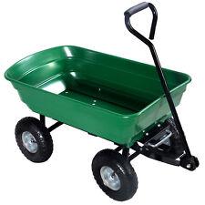 650LB Garden Dump Cart Dumper Wagon Carrier Wheel Barrow Air Tires Heavy Duty