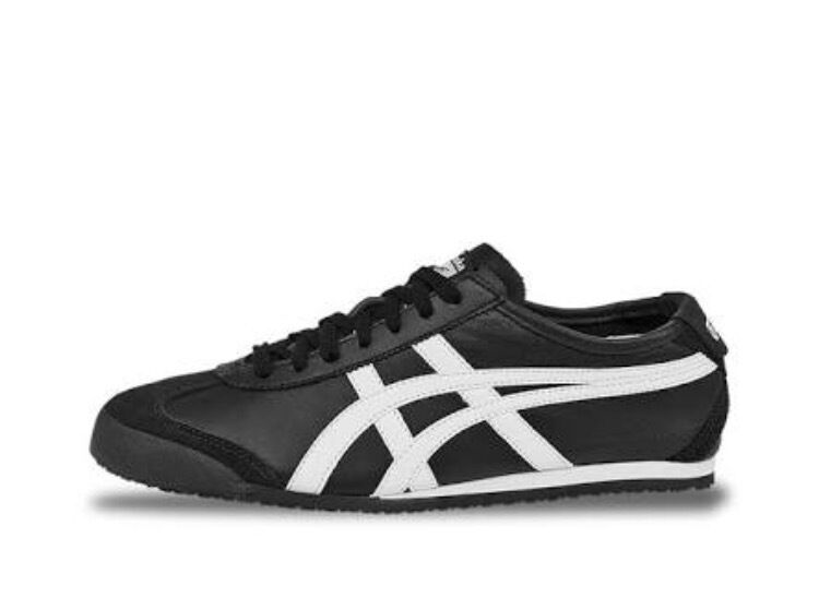 Mexico 66 Onitsuka Tiger Asics Shoe Sneaker Black White Trainer Leather Heritage New shoes for men and women, limited time discount