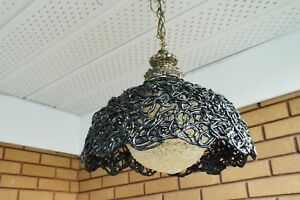 VERY-RARE-VINTAGE-BLACK-AND-WHITE-SPAGHETTI-CEILING-LAMP