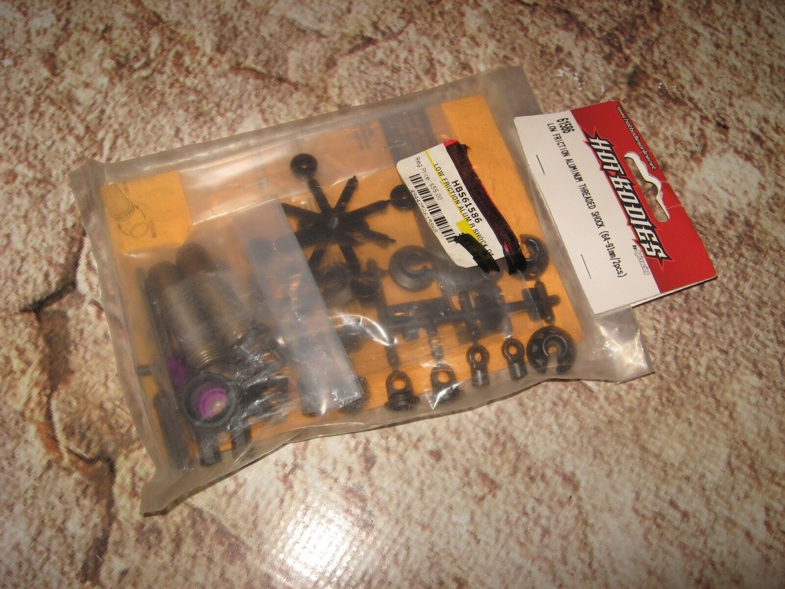 Vintage RC Amortiguadores roscados Hpi Hot Bodies Racing 64 - 91 mm (2) 61586