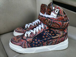 Givenchy-Printed-Silk-Twill-High-Top-Womens-Ladies-Sneakers-Shoes-Trainers