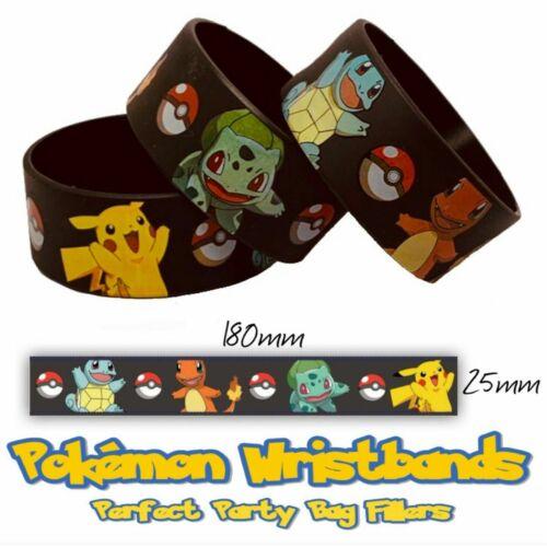 - Parti Sac charges Fournitures Faveurs 10pc Pokemon Deluxe bracelets Butin