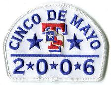 2006 TEXAS RANGERS MLB BASEBALL CINCO DE MAYO JERSEY SLEEVE TEAM PATCH RARE