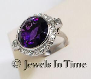 11-00-Carat-Amethyst-amp-Diamond-Diamond-Ring-in-18K-White-Gold-Size-6-75
