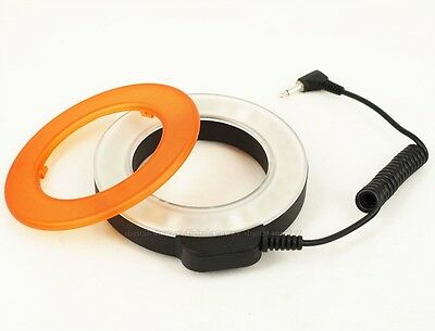 48 LED Rechargeable Video Camera Macro Ring Light For Canon Nikon SONY Panasonic