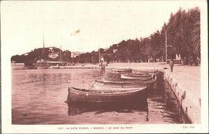 CARTOLINA-LA-COTE-D-039-AZUR-BANDOL-Le-quai-du-port-1920-ca