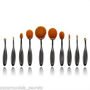 10-Pcs-Toothbrush-Shaped-Oval-Makeup-Brushes-Mermaid-brush-Without-Box