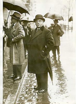 """arrivée De Albert Sarraut Salle Wagram1931"" Photo Originale G. Devred /agce Rol"