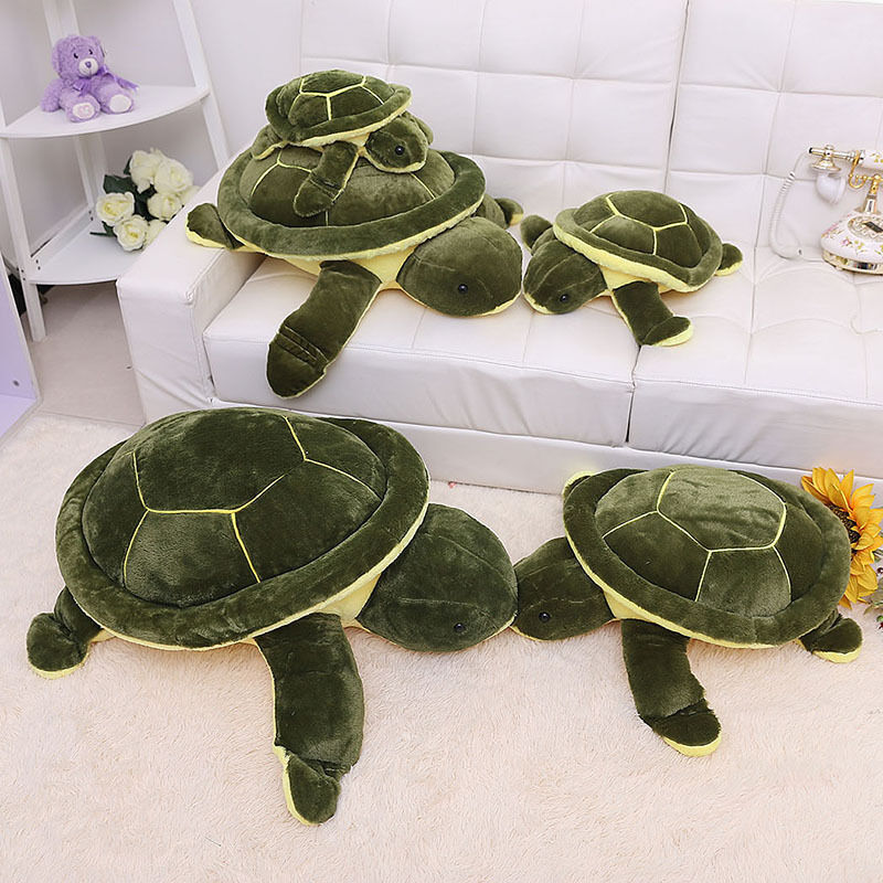 Turtle Plush Soft Stuffed Animal Doll 25  Green Sea Cushions Toys With PP Cotton
